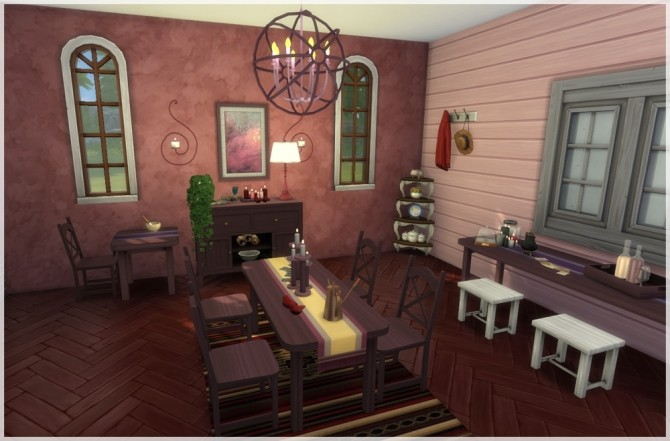 Sims 4 Memories dining set by Mathcope at Sims 4 Studio