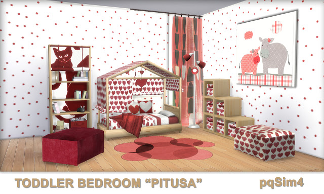 Pitusa Toddler Bedroom by Mary Jiménez at pqSims4 image 7310 Sims 4 Updates