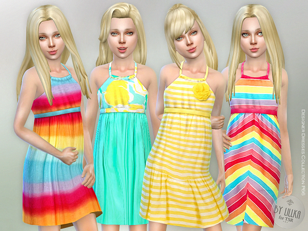 Designer Dresses Collection P66 by lillka at TSR image 738 Sims 4 Updates