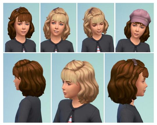 Sims 4 Vintage Girly Hair at Birksches Sims Blog