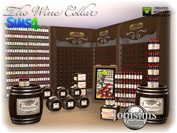 The wine cellar by  jomsims at TSR image 770 Sims 4 Updates