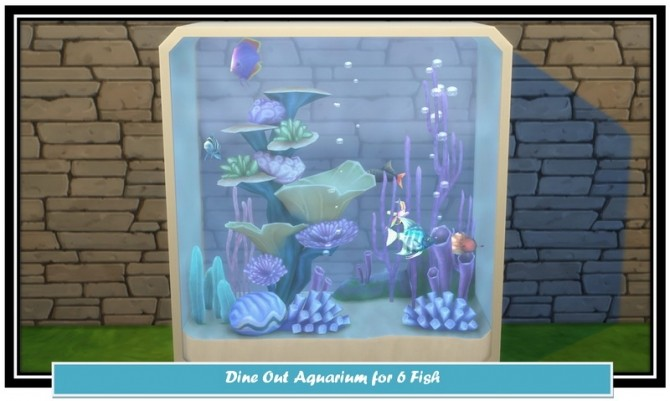 Dine Out 6 Fish Aquarium Clone by LittleMsSam at Mod The Sims image 7814 670x401 Sims 4 Updates