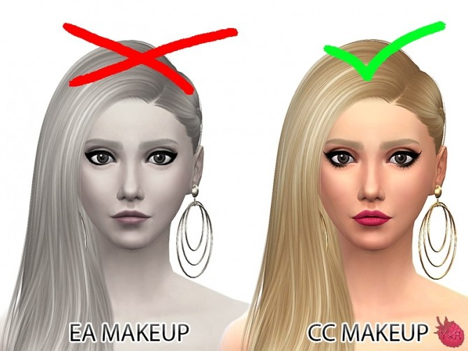 Sims 4 Hide all makeup from CAS by YuuNyuu at Mod The Sims
