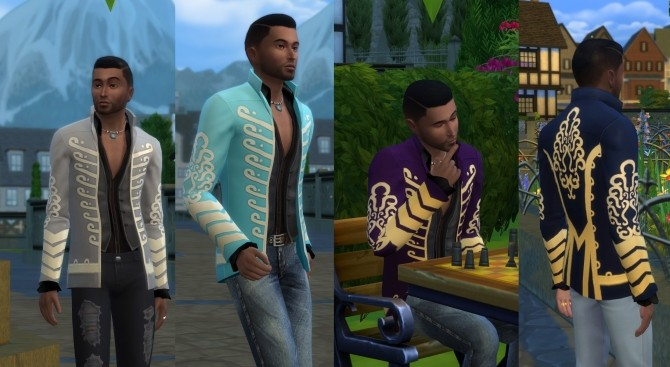 Jimi Hendrix Jacket Tuned Down by Velouriah at Mod The Sims image 8013 670x367 Sims 4 Updates