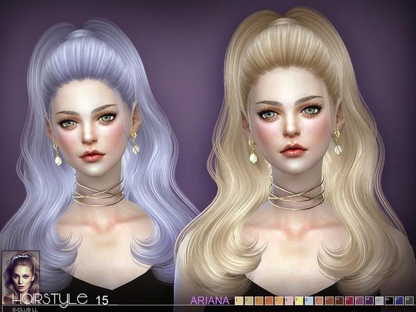 Sims 4 Ariana n15 hair by S Club at TSR