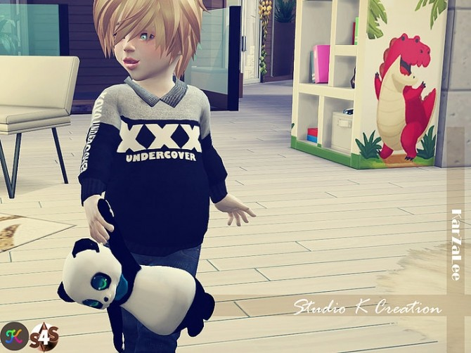 Sims 4 Teddy bear toy for toddler at Studio K Creation