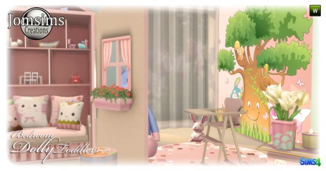 Sims 4 Dolly Toddlers bedroom at Jomsims Creations