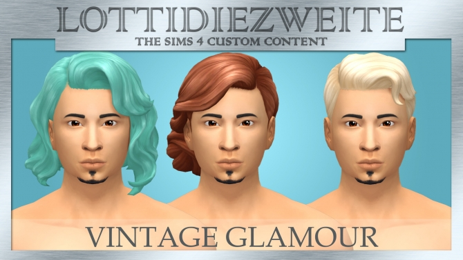 Vintage Glamour Stuff Male Hairs Recoloured By