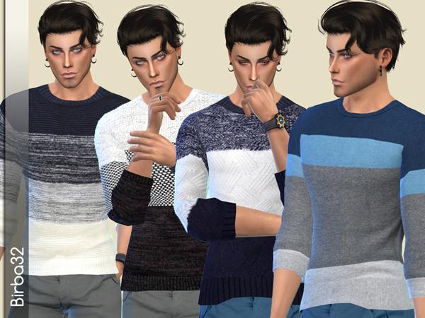 Sims 4 Logan Sweaters by Birba32 at TSR