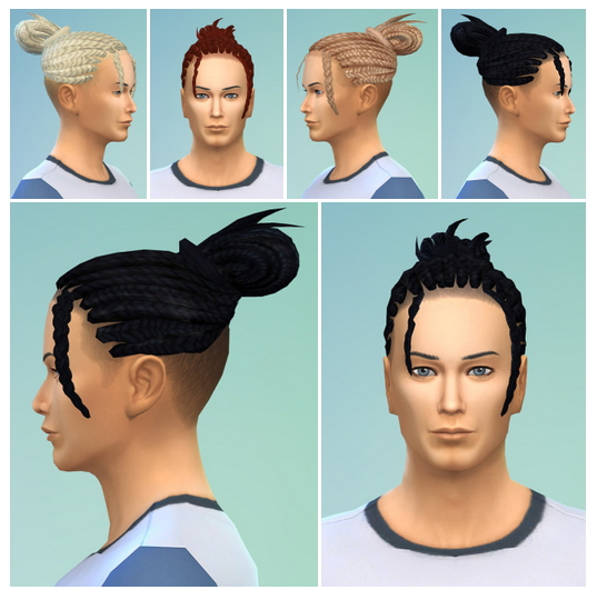Shaved Braids Pony at Birksches Sims Blog image 876 Sims 4 Updates