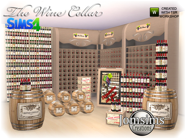 The wine cellar by  jomsims at TSR image 880 Sims 4 Updates