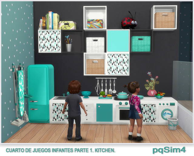 Kitchen toy room for kids by Mary Jiménez at pqSims4
