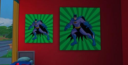 Sims 4 Super Hero Paintings at ChiLLis Sims