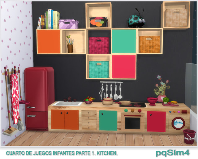 Kitchen toy room for kids by Mary Jiménez at pqSims4 image 899 Sims 4 Updates