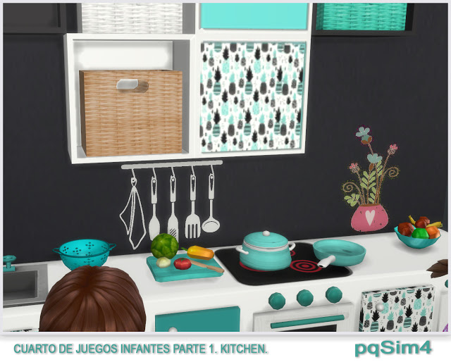 Kitchen toy room for kids by Mary Jiménez at pqSims4 image 9010 Sims 4 Updates