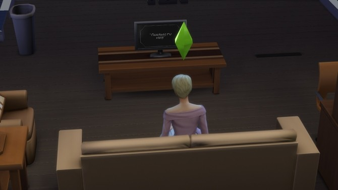 Sims 4 Fix For Sims Not Sitting While Watching TV by Ravynwolvf at Mod The Sims
