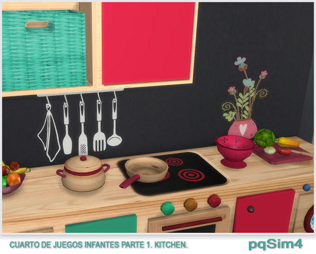 Kitchen toy room for kids by Mary Jiménez at pqSims4 image 9115 Sims 4 Updates