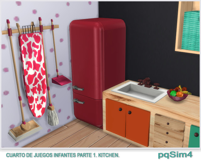 Kitchen toy room for kids by Mary Jiménez at pqSims4 image 9212 Sims 4 Updates