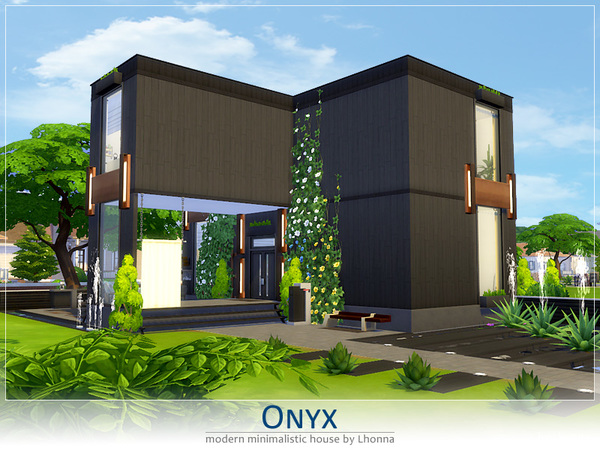 Onyx house by Lhonna at TSR image 930 Sims 4 Updates