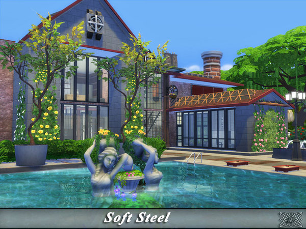 Sims 4 Soft Steel house by Danuta720 at TSR