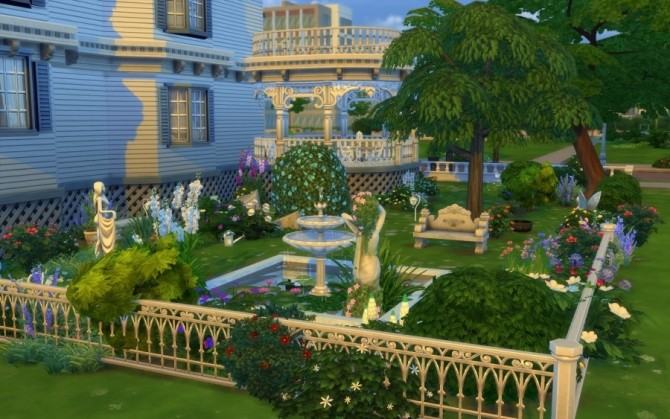 Sims 4 Victorian house by Bloup at Sims Artists