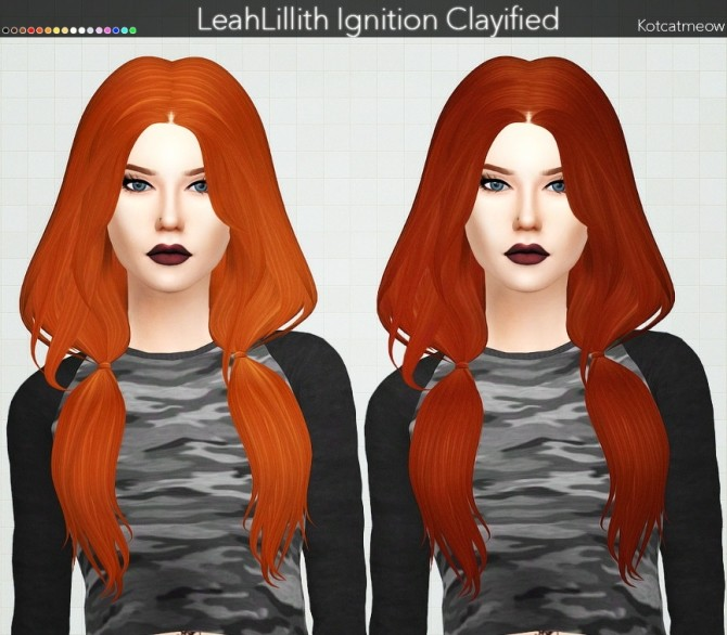 Sims 4 LeahLillith Ignition Hair Clayified at KotCatMeow