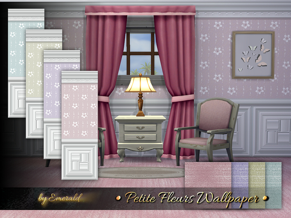 Petite Fleurs Wallpaper by emerald at TSR image 9414 Sims 4 Updates