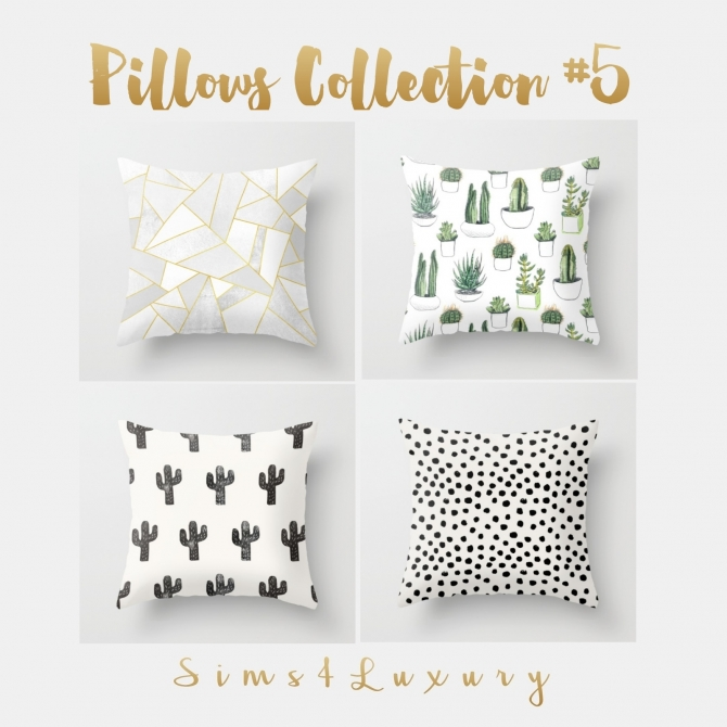 Pillows Collection 5 At Sims4 Luxury 187 Sims 4 Updates