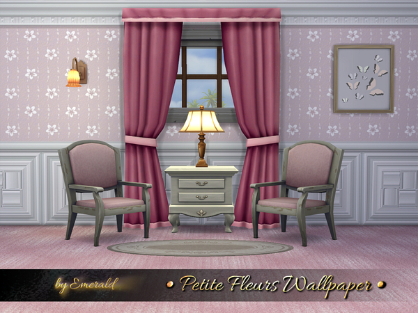Petite Fleurs Wallpaper by emerald at TSR image 9514 Sims 4 Updates