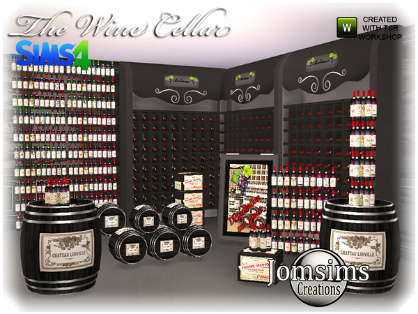 The wine cellar by  jomsims at TSR image 970 Sims 4 Updates