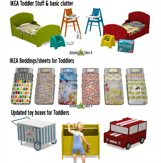 Sims 4 Toddler stuff & basic clutter at Around the Sims 4