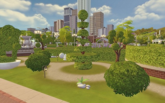 Downtown Park at Via Sims image 1002 670x419 Sims 4 Updates