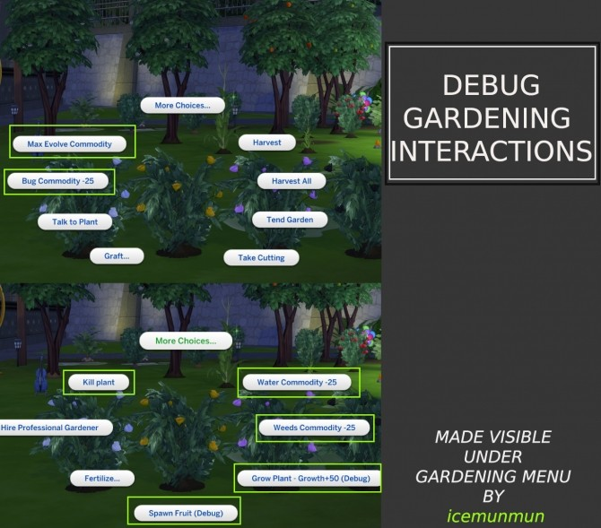 Debug Gardening Interactions made visible by icemunmun at Mod The Sims image 10214 670x589 Sims 4 Updates