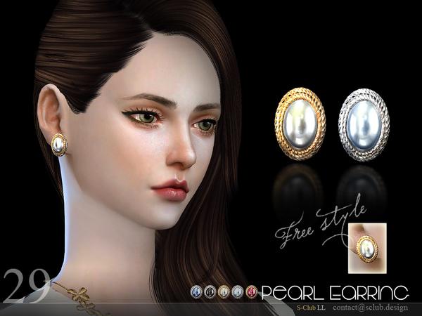 Sims 4 Earrings N29 by S Club LL at TSR