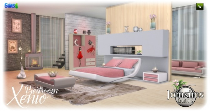 Xenio bedroom at Jomsims Creations image 1046 670x355 Sims 4 Updates