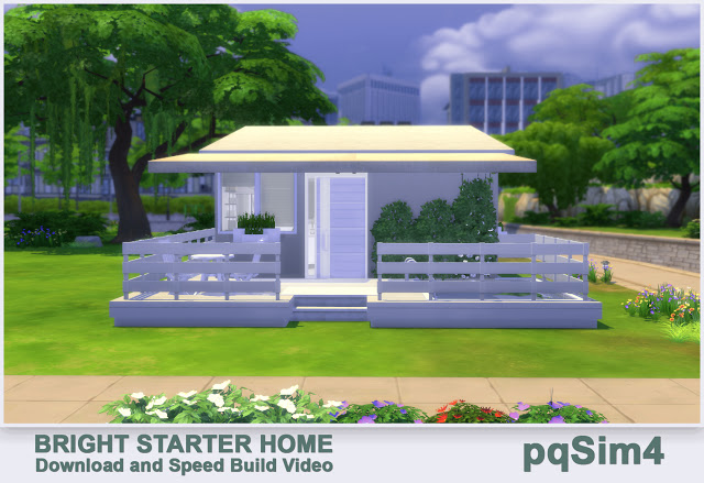 Sims 4 Bright Starter Home by Mary Jiménez at pqSims4