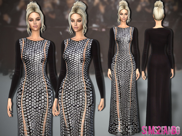 Sims 4 313 Designer Open Dress by sims2fanbg at TSR