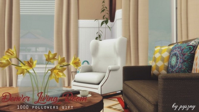 Denver Living Room at Pyszny Design image 10511 670x377 Sims 4 Updates