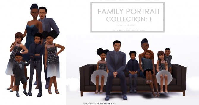 Sims 4 Family Portrait Collection One at Onyx Sims