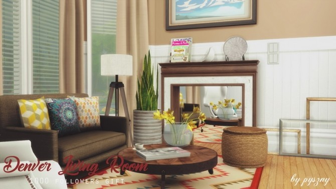 Denver Living Room at Pyszny Design image 10611 670x377 Sims 4 Updates