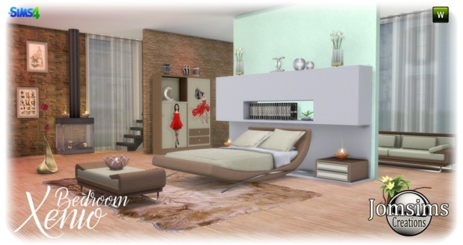 Xenio bedroom at Jomsims Creations image 1067 670x355 Sims 4 Updates