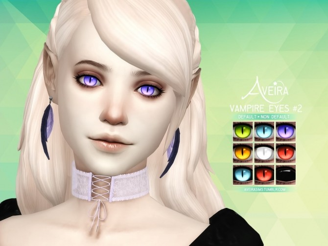 Sims 4 Vampire Eyes #2 at Aveira Sims 4