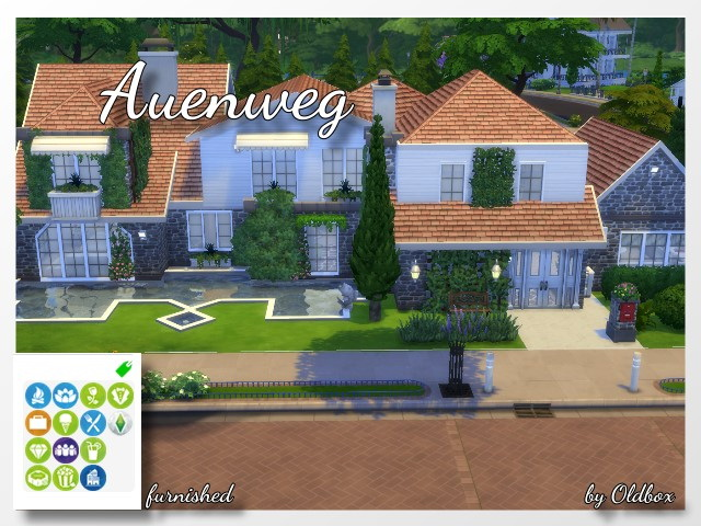 Sims 4 Auenweg house by Oldbox at All 4 Sims