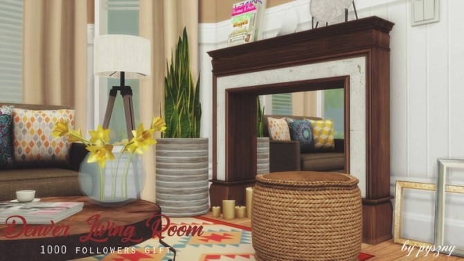 Denver Living Room at Pyszny Design image 10711 670x377 Sims 4 Updates