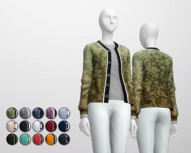 Sims 4 Basic wool cardigan with t shirt F at Rusty Nail