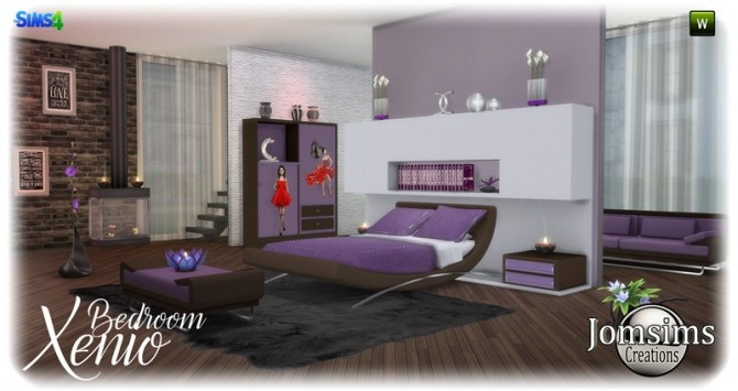 Xenio bedroom at Jomsims Creations image 1077 670x355 Sims 4 Updates