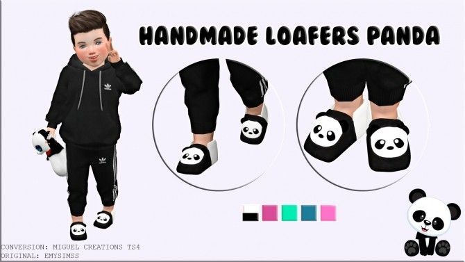 Sims 4 Loafers Panda at Victor Miguel