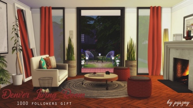 Denver Living Room at Pyszny Design image 10810 670x377 Sims 4 Updates