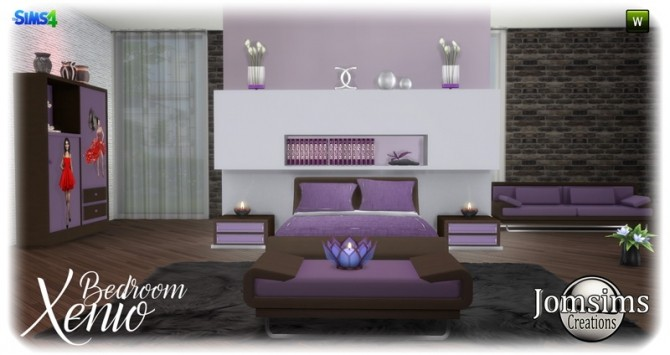 Xenio bedroom at Jomsims Creations image 1086 670x355 Sims 4 Updates