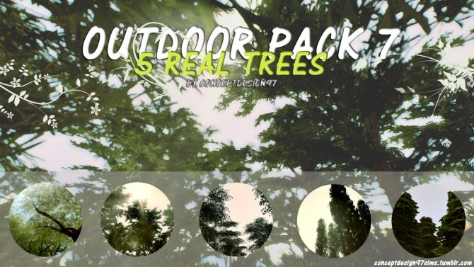 Outdoor Pack 7   5 Real Trees at ConceptDesign97 image 1088 670x377 Sims 4 Updates